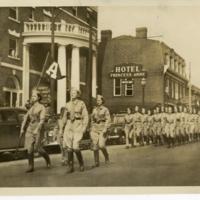 Hoof Prints Club and Cavalry troop marching down Princess Anne Street.jpg